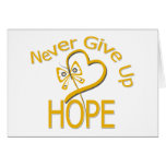 Never Give Up Hope Appendix Cancer Card