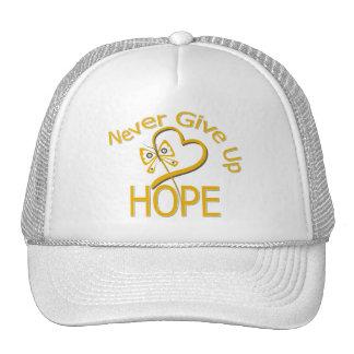 Never Give Up Hope Appendix Cancer Trucker Hat