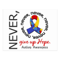 Never Give Up Hope Autism Postcard