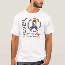 Never Give Up Hope Autism T-Shirt