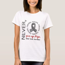 Never Give Up Hope Brain Tumor T-Shirt
