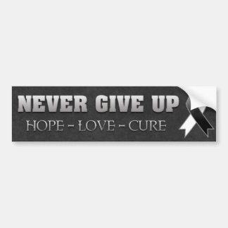 Never Give Up Hope Carcinoid Cancer Awareness Bumper Sticker