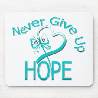 Never Give Up Hope Cervical Cancer Mouse Pads