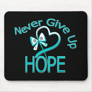 Never Give Up Hope Cervical Cancer Mouse Pad