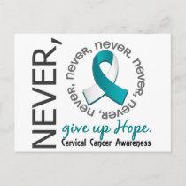 Never Give Up Hope Cervical Cancer Postcard