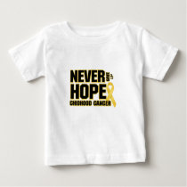 Never Give Up Hope Childhood Cancer Baby T-Shirt