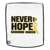 Never Give Up Hope Childhood Cancer Backpack