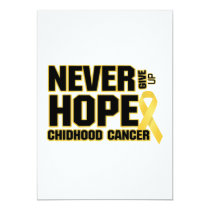 Never Give Up Hope Childhood Cancer Card