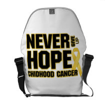 Never Give Up Hope Childhood Cancer Courier Bag