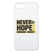 Never Give Up Hope Childhood Cancer iPhone 8/7 Case