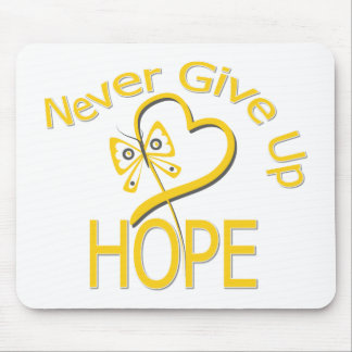 Never Give Up Hope Childhood Cancer Mouse Pad