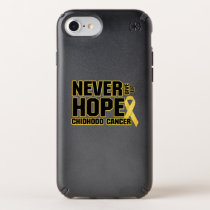 Never Give Up Hope Childhood Cancer Speck iPhone Case