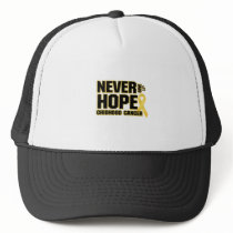 Never Give Up Hope Childhood Cancer Trucker Hat