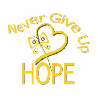 Never Give Up Hope Childhood Cancer shirt