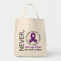 Never Give Up Hope Cystic Fibrosis Tote Bag