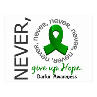 Never Give Up Hope Darfur Postcard