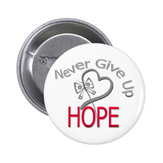 Never Give Up Hope Diabetes Buttons