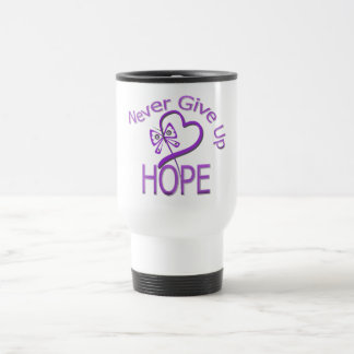 Never Give Up Hope Domestic Violence 15 Oz Stainless Steel Travel Mug