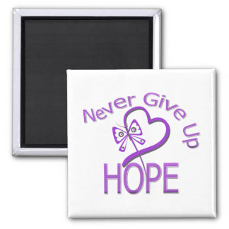 Never Give Up Hope Domestic Violence 2 Inch Square Magnet