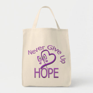 Never Give Up Hope Domestic Violence Tote Bag