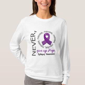 Never Give Up Hope Epilepsy T-Shirt
