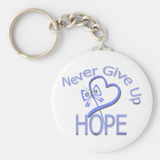 Never Give Up Hope Esophageal Cancer Basic Round Button Keychain