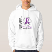 Never Give Up Hope Fibromyalgia Hoodie