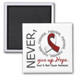 Never Give Up Hope Head And Neck Cancer 2 Inch Square Magnet