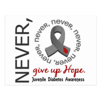 Never Give Up Hope Juvenile Diabetes Postcard