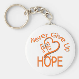 Never Give Up Hope Kidney Cancer Keychain