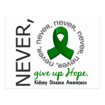 Never Give Up Hope Kidney Disease Postcard