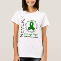Never Give Up Hope Kidney Disease T-Shirt
