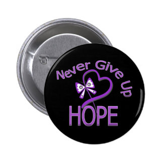 Never Give Up Hope Leiomyosarcoma Button
