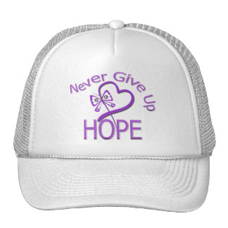 Never Give Up Hope Leiomyosarcoma Trucker Hat