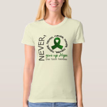 Never Give Up Hope Liver Cancer T-Shirt