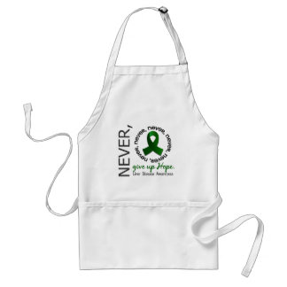 Never Give Up Hope Liver Disease Adult Apron