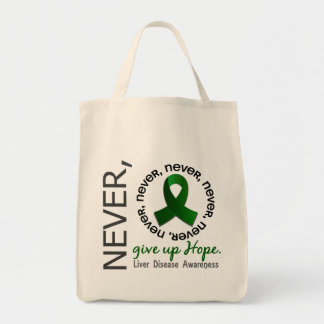 Never Give Up Hope Liver Disease Canvas Bag