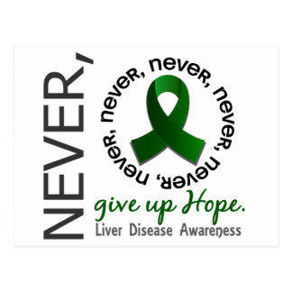 Never Give Up Hope Liver Disease Postcard