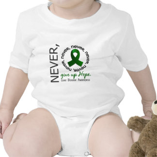 Never Give Up Hope Liver Disease Tee Shirt