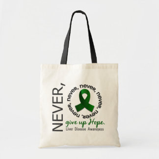 Never Give Up Hope Liver Disease Tote Bags