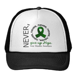 Never Give Up Hope Liver Disease Trucker Hat