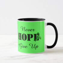 Never Give Up, Hope Lyme Disease Awareness Mug