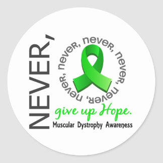 Never Give Up Hope Muscular Dystrophy Classic Round Sticker