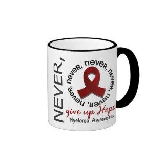 Never Give Up Hope Myeloma Ringer Coffee Mug