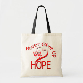 Never Give Up Hope Oral Cancer Budget Tote Bag
