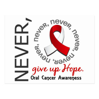 Never Give Up Hope Oral Cancer Postcard