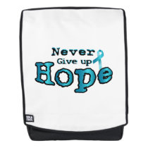Never Give Up Hope Ovarian Cancer Awareness Backpack