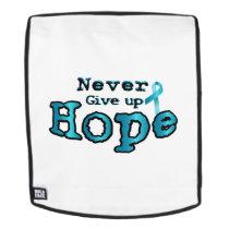 Never Give Up Hope Ovarian Cancer Awareness Backpack