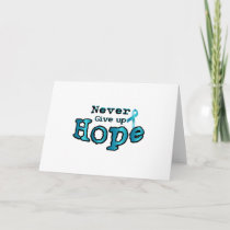 Never Give Up Hope Ovarian Cancer Awareness Card