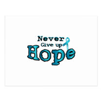 Never Give Up Hope Ovarian Cancer Awareness Postcard